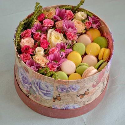 """Коробка с цветами """"Нежность"""""""